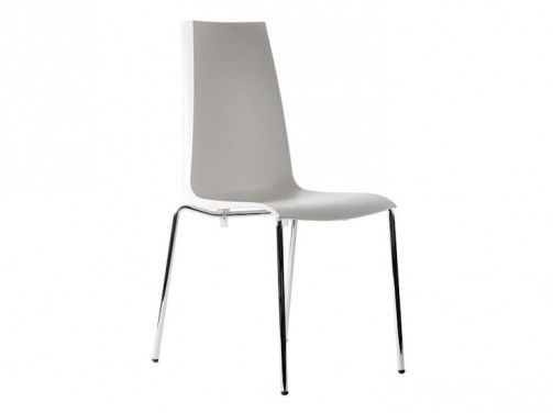 Stuhl *Mannequin*, ecru, Chromfüße