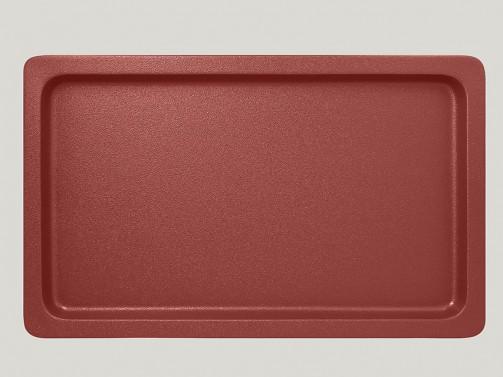 Gastronorm Behälter 1/1, 2 cm tief, Porzellan dunkelrot