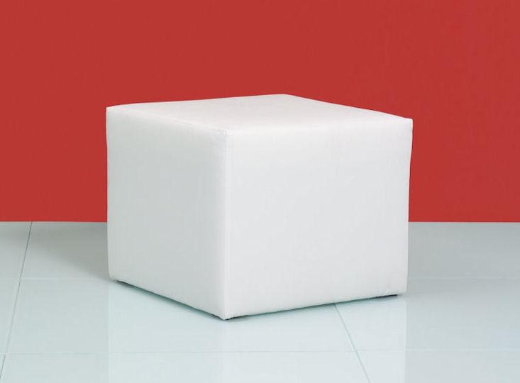clubzone cube, weiß, Kunstlederbezug