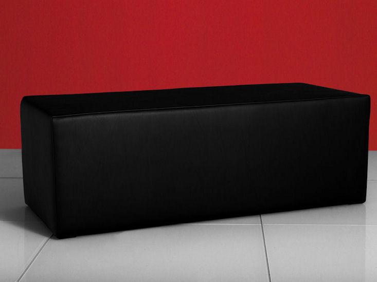 clubzone bench, schwarz, Kunstlederbezug