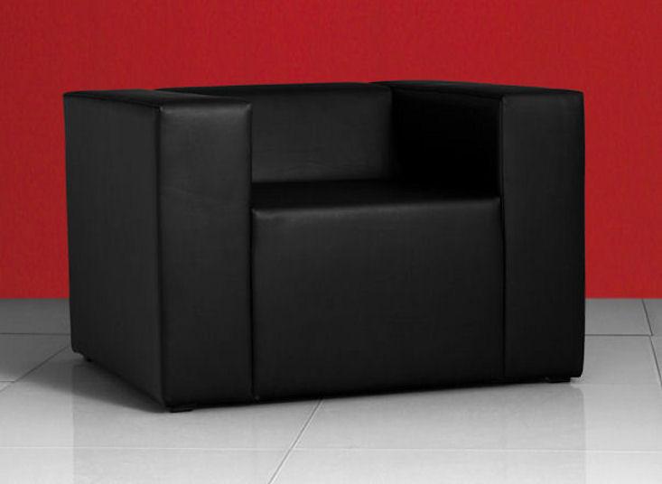 clubzone oneseat, schwarz, Kunstlederbezug
