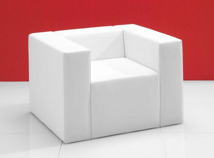 clubzone oneseat, weiß, Kunstlederbezug