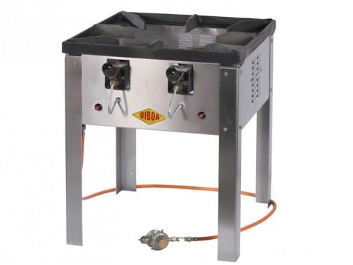 Hockerkocher für Riesenbratpfanne, Gas