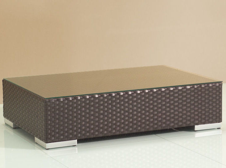 summertime bluesky table, Polyrattan + Glasplatte