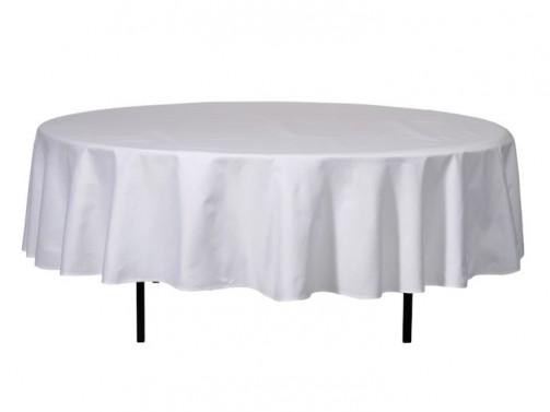 Tischdecke, weiß 1,30m Ø