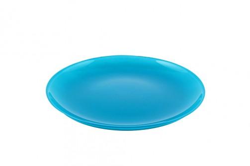Dessertteller, blau, Glas 20cm Ø