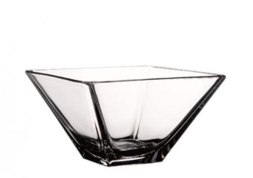 Glasschale 26 x 26 cm, H: 12,5 cm