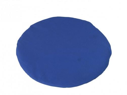 Kissen blau, rund