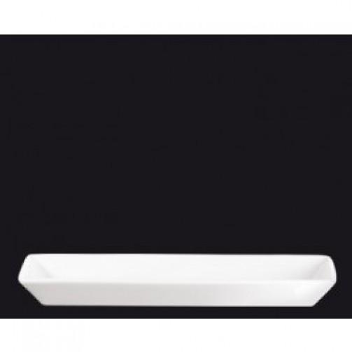 Servierteller, 24 x 8 x 2,5 cm, weiß