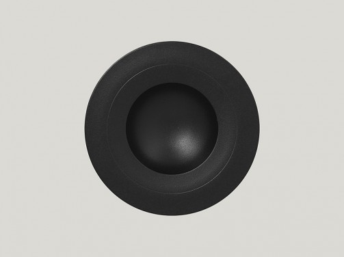 Tiefer Teller, 23 cm Ø, 22 cl, breiter Rand, schwarz Neo Fusion