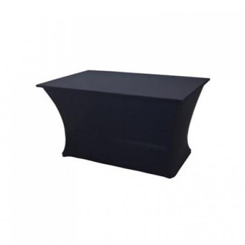 Tischhusse, schwarz, Stretch für Banketttisch 2,00 x 1,00 m