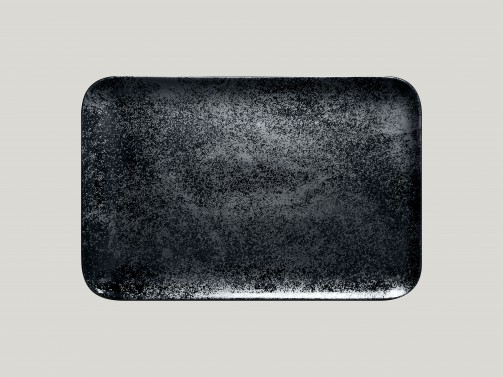 Rechteckiger Teller, 38 x 21 cm, Karbon