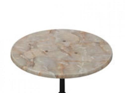 Platte für Stehtisch / Sitztisch, 60 cm Ø, Marmoroptik