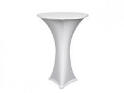 Stehtischhusse weiß, Stretch,  für Klappstehtisch mit 80 cm Ø Platte