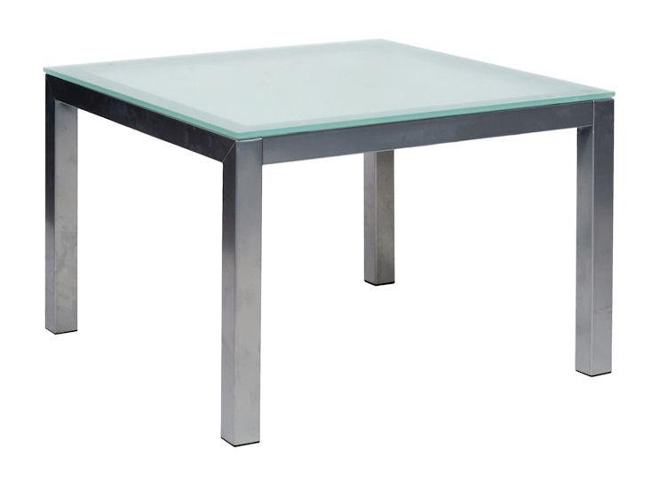 Tisch 60 x 60 cm, mit Glasplatte