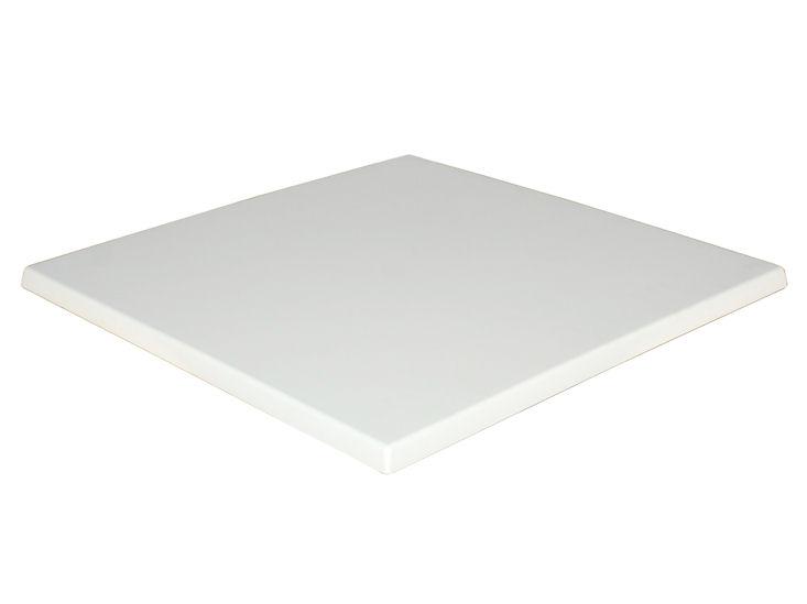 Platte für Stehtisch / Sitztisch, weiß, 70 x 70 cm