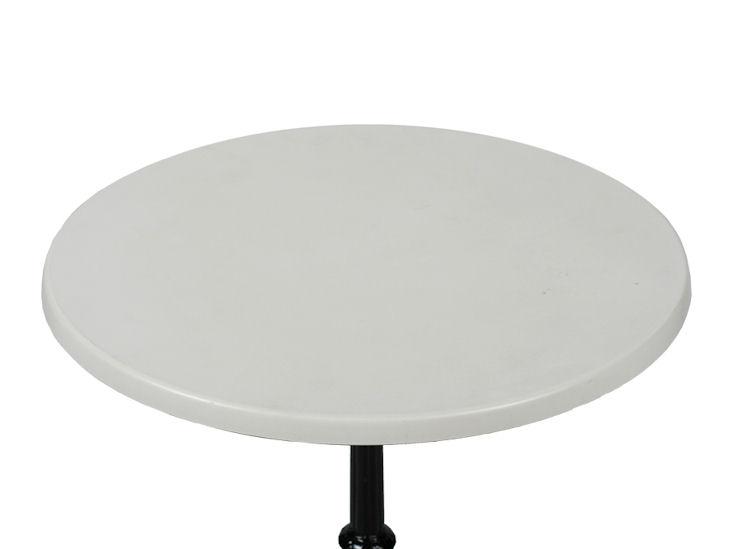 Platte für Stehtisch/ Sitztisch 80cm Ø, weiß