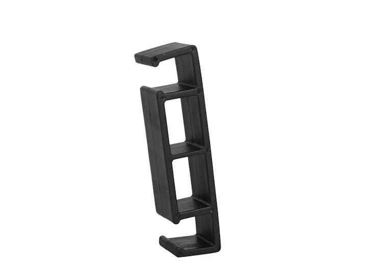 Reihenverbinder, schwarz, Kunststoff, für Bankettstuhl