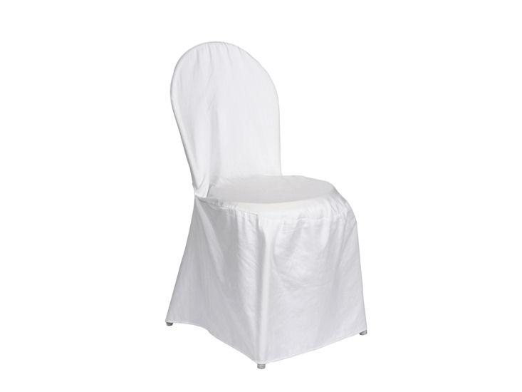 weiße Husse (ungebügelt) für Bistrosuhl