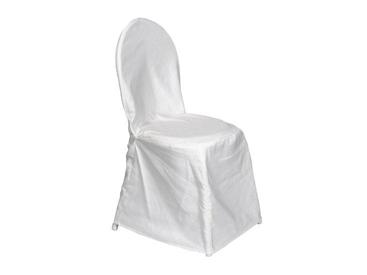 weiße Husse, seidenglanz (ungebügelt) für Bistrostuhl