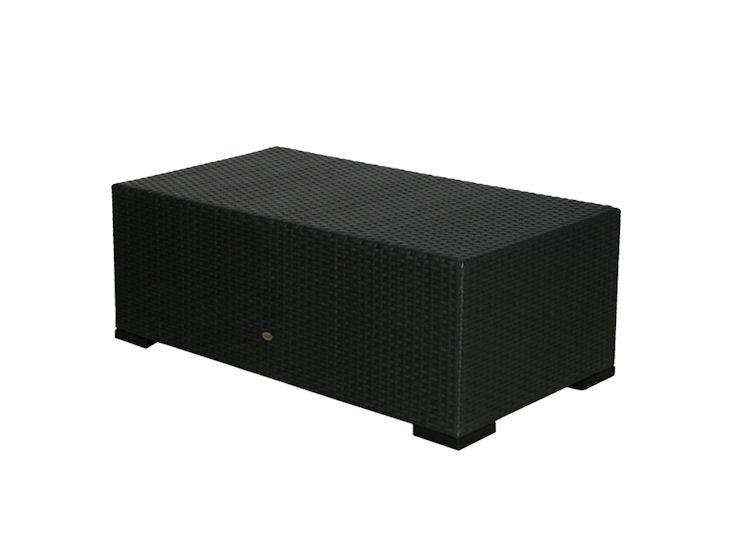 Loungetisch, Sorrento, schwarz, Kunststoffgeflecht, 110 x 55 x 40 cm