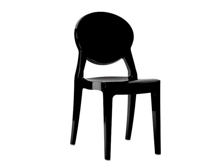 Stuhl *Igloo* schwarz glänzend