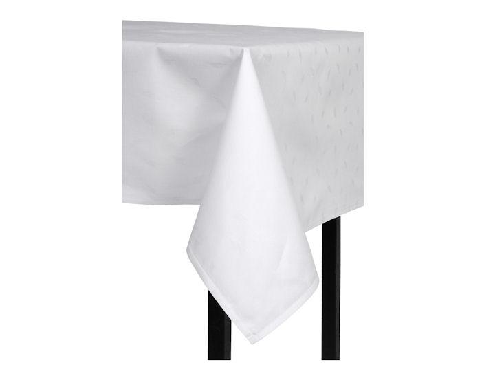 Stofftischdecke, weiß 1,00 x 1,00 m