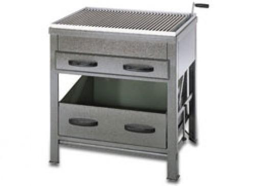 Holzkohlegrill mit Kohlefach, 810 x 610 x 850 mm