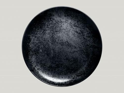 Flacher Essteller, 29 cm Ø, Karbon