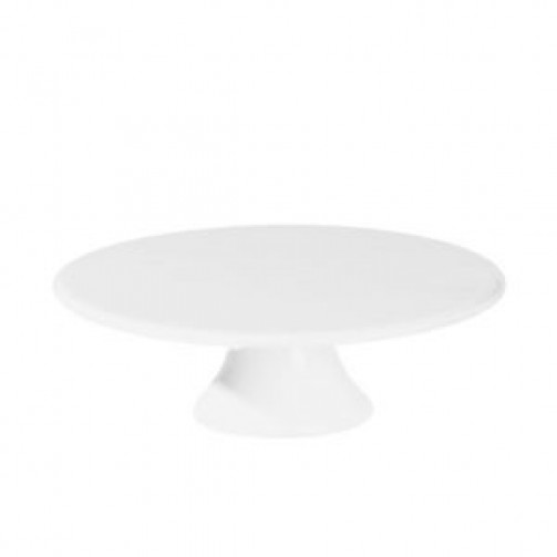 Tortenplatte auf Fuß, 29 cm Ø, 9 cm h, weiß