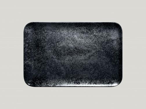 Rechteckiger Teller, 33 x 22 cm, Karbon
