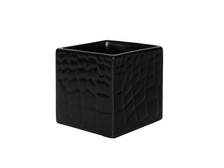 Quadrat. Schale, 8 x 8 x 8 cm, schwarz