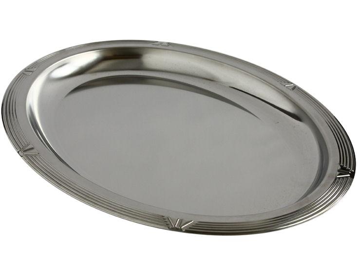 Ovale Chromaganplatte 50 x 36 cm