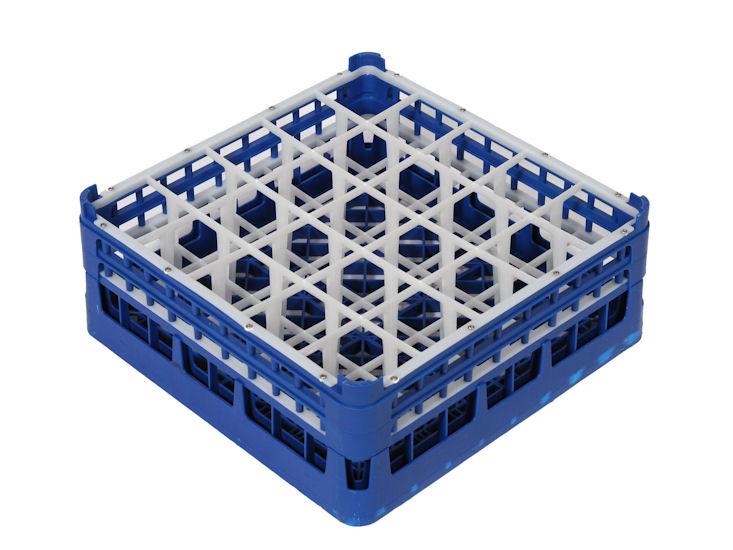 Gläserrack 25er Unterteilung, Fachgröße 9 x 9 cm, H:Glas max. 15,9 cm