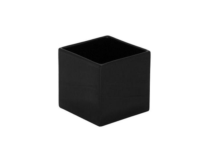 Übertopf, schwarz, 12 x 12 x 12 cm
