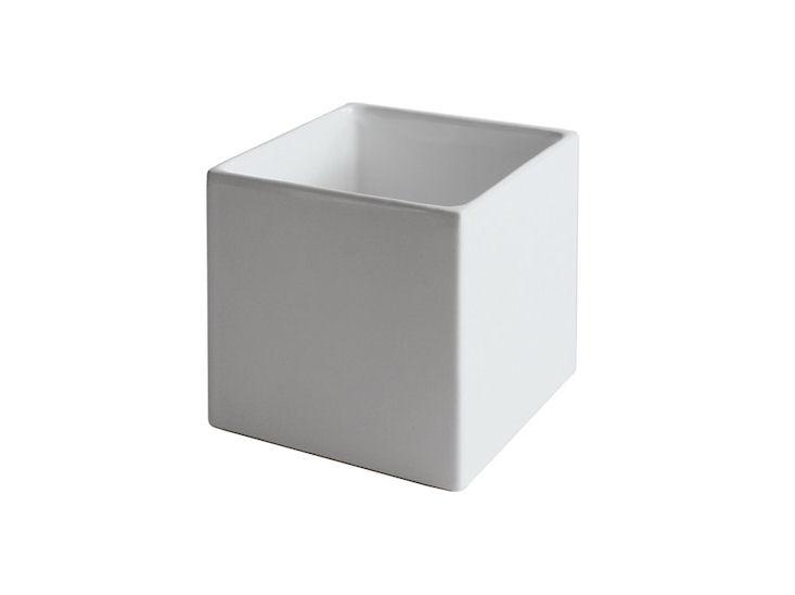 Übertopf, weiß, 12 x 12 x 12 cm