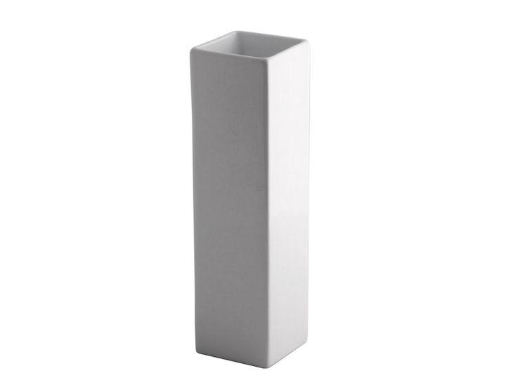 Vase, weiß, 8 x 8 x 30 cm hoch