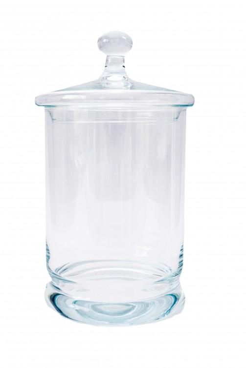 Bonbonniere, Glas, 14 cm Ø, 26 cm hoch, 2,7 l