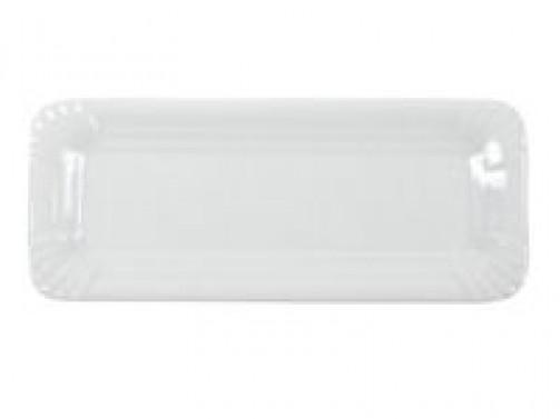 Bratwurstplatte, 8 x 20cm, weiß