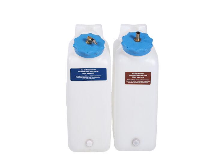 1 Frischwasser- und 1 Abwasserkanister je 20 l, für Kaffeemaschine / Vollautomat