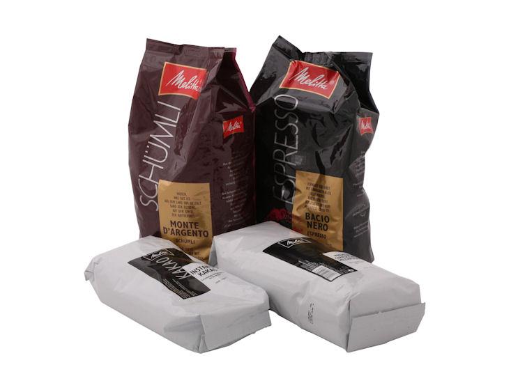 Kaffee Espresso Nero 1 kg, für Melitta- Kaffeemaschine cup 2M und bar cube