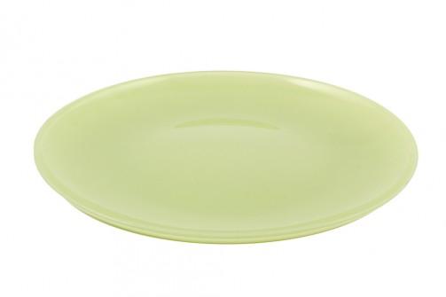fl. Eßteller, grün, Glas 27cm Ø