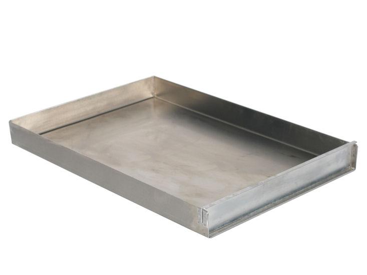 Alu-Backblech EN, mit Vorsteckleiste 600 x 400 mm, 50 mm hoch