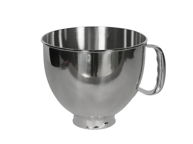Rührschüssel, Edelstahl, 4,8 l für Kitchen Aid