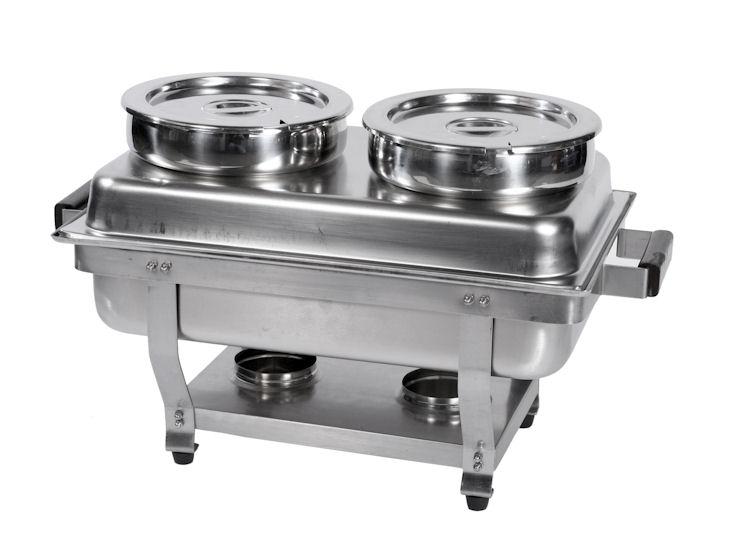 Suppenaufsatz für Chafing dish 1/1 GN, 2 x 6,5 l (nur Aufsatz, ohne Chafing dish)