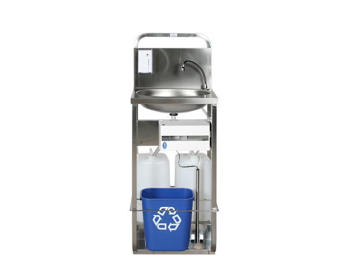 Handwaschbecken mit Kanisterbetrieb