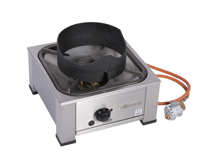 Gaskocher 1-flammig als Tischgerät, mit Aufsatzring