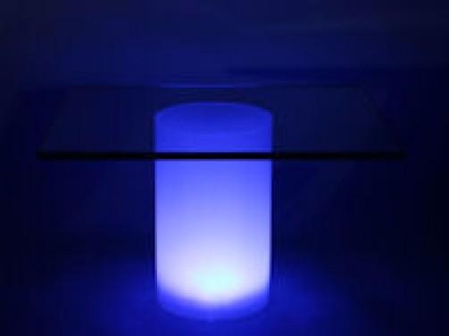 Acrylröhre satiniert mit Beleuchtung D:15 cm, H:24 cm