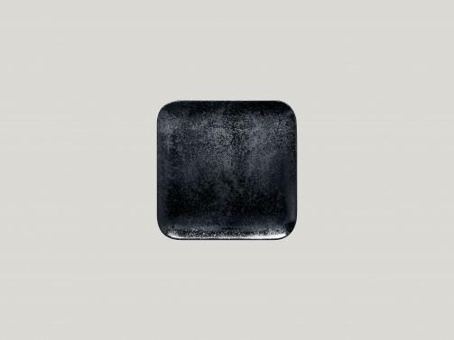 Quadratischer Teller, 15 x 15 cm, Karbon