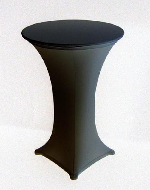 Stehtischhusse schwarz, Stretch, 2-tlg., für Gußstehtisch mit 80 cm Ø Platte